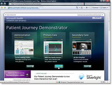 Patient Journey Demonstrator (http://www.mscui.net/PatientJourneyDemonstrator/)